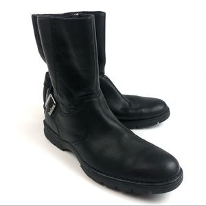 Men's Cole Haan Nike Air Black Leather Boots 9